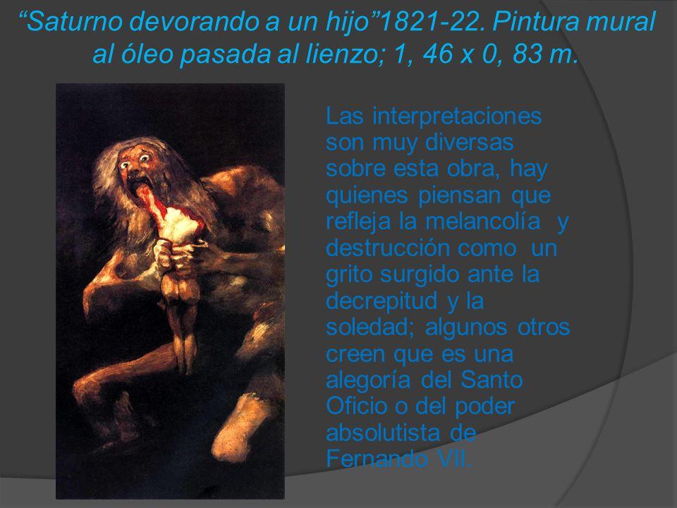Saturno devorando a un hijo 1821-22