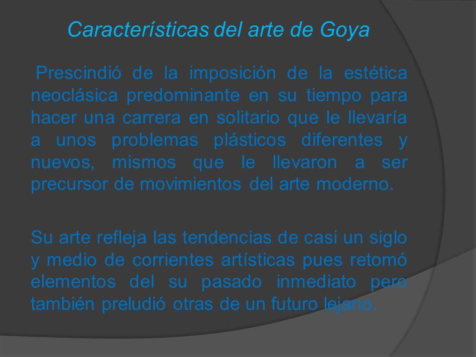 Características del arte de Goya