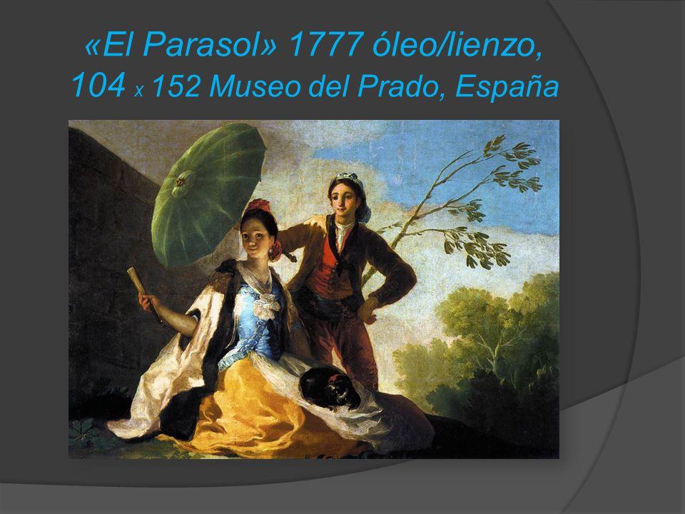 «El Parasol» 1777 óleo/lienzo, 104 x 152 Museo del Prado, España