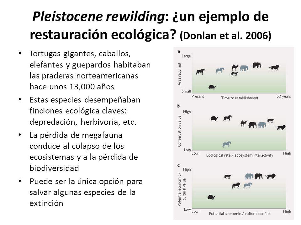 Pleistocene rewilding: ¿un ejemplo de restauración ecológica