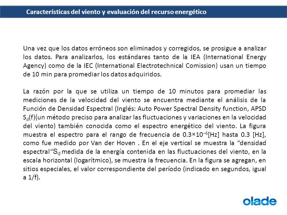 Una vez que los datos erróneos son eliminados y corregidos, se prosigue a analizar los datos. Para analizarlos, los estándares tanto de la IEA (International Energy Agency) como de la IEC (International Electrotechnical Comission) usan un tiempo de 10 min para promediar los datos adquiridos.