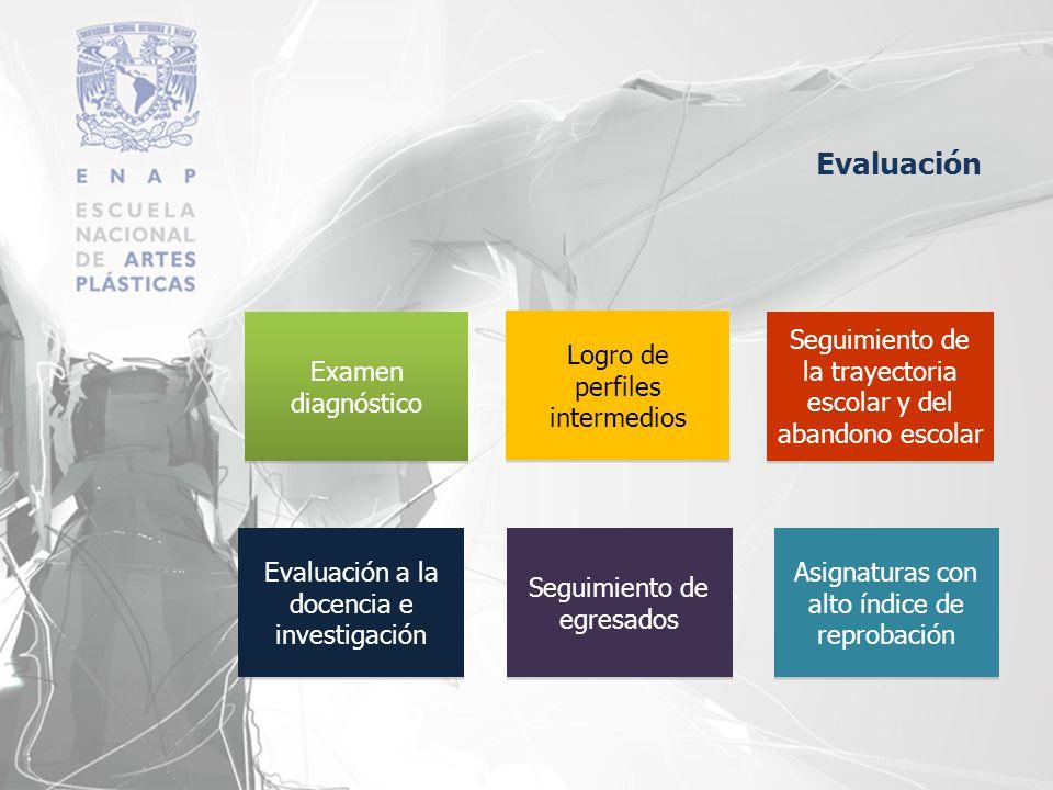 Evaluación Examen diagnóstico Logro de perfiles intermedios