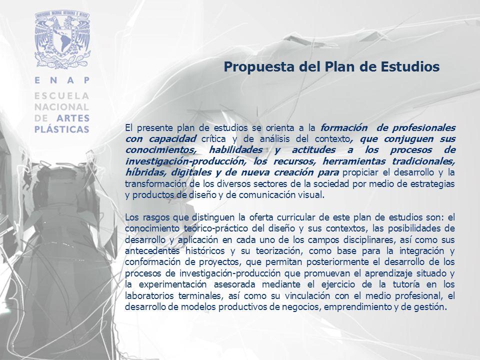 Propuesta del Plan de Estudios