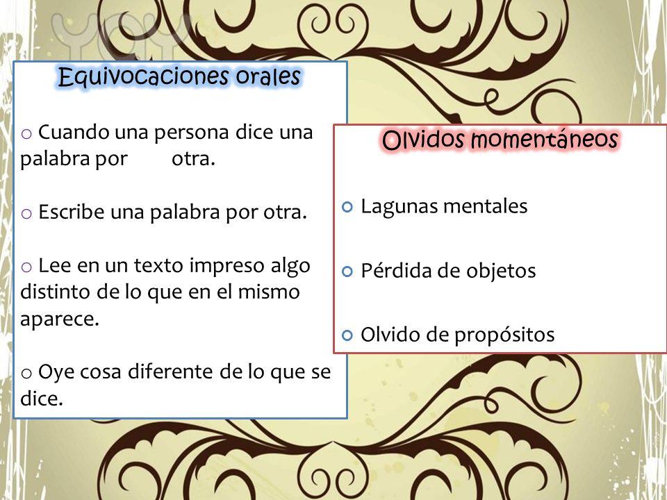 Equivocaciones orales