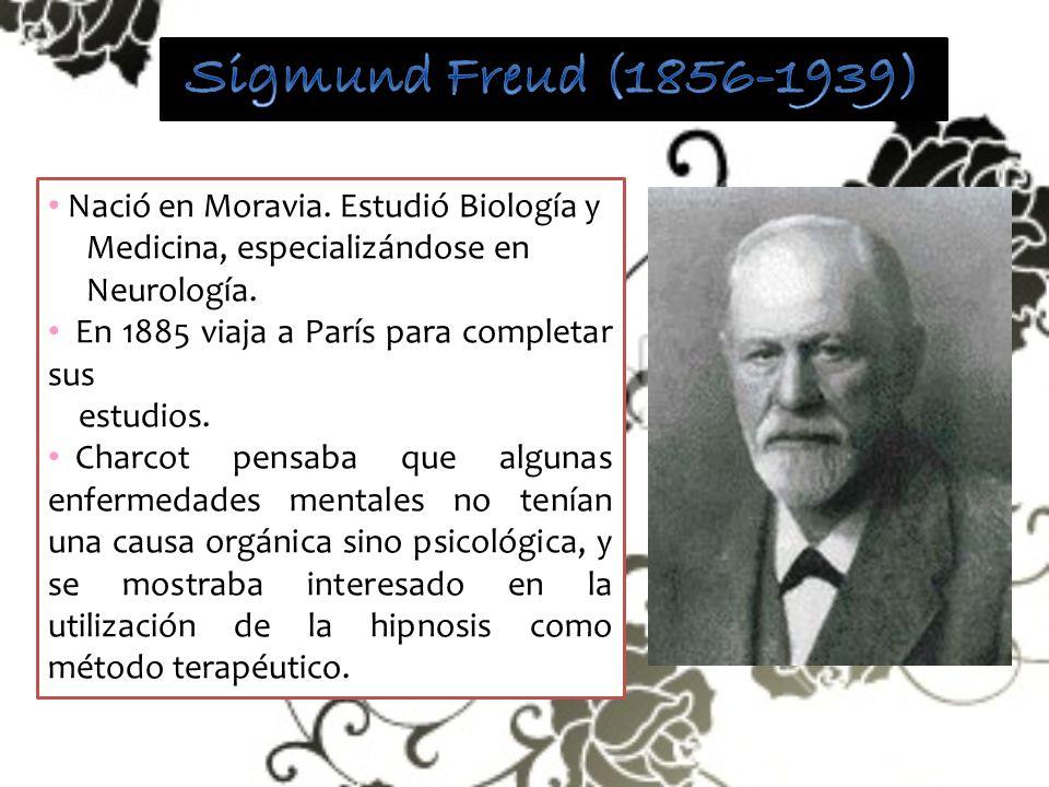 Sigmund Freud (1856-1939) Nació en Moravia. Estudió Biología y