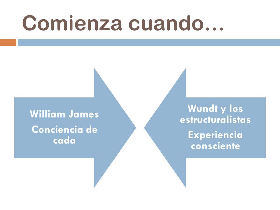 Wundt y los estructuralistas Experiencia consciente