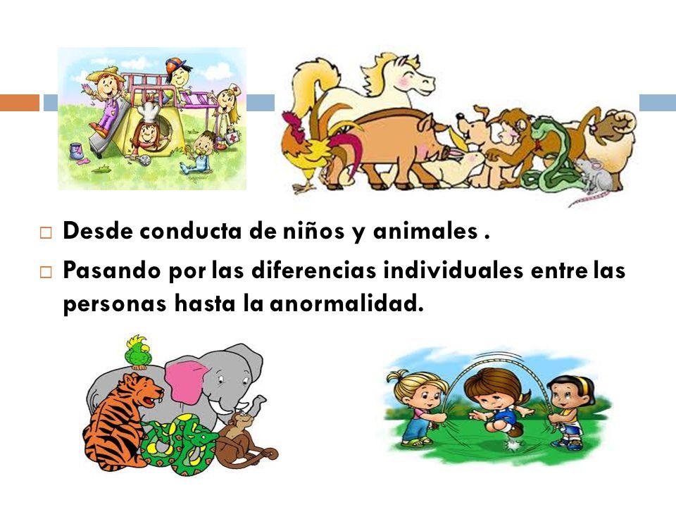 Desde conducta de niños y animales .