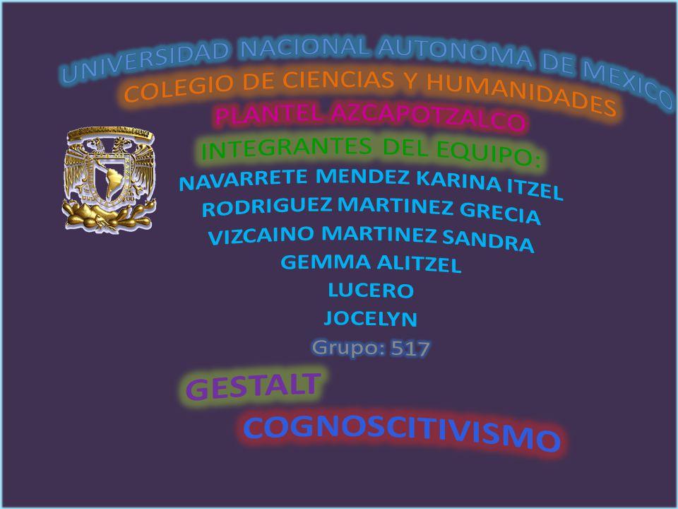 COGNOSCITIVISMO UNIVERSIDAD NACIONAL AUTONOMA DE MEXICO