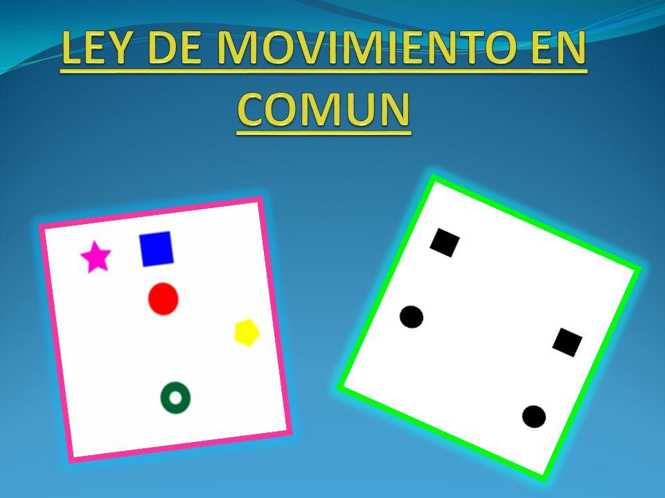 LEY DE MOVIMIENTO EN COMUN
