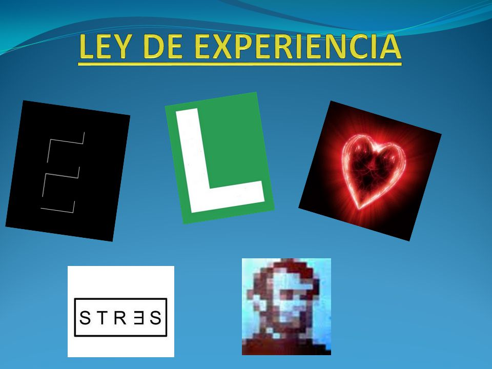 LEY DE EXPERIENCIA