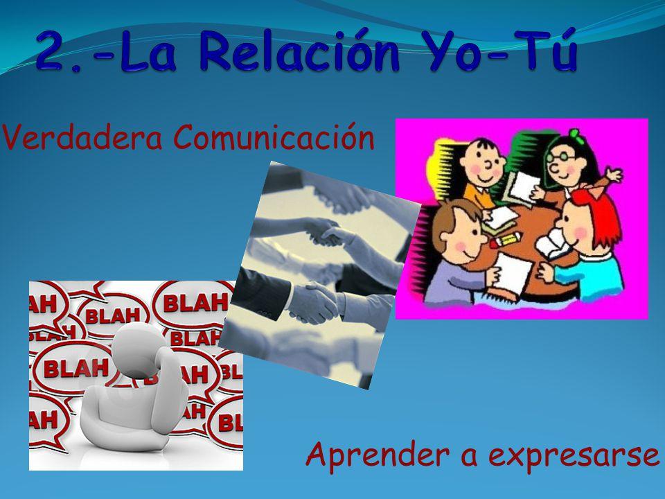 2.-La Relación Yo-Tú Verdadera Comunicación Aprender a expresarse