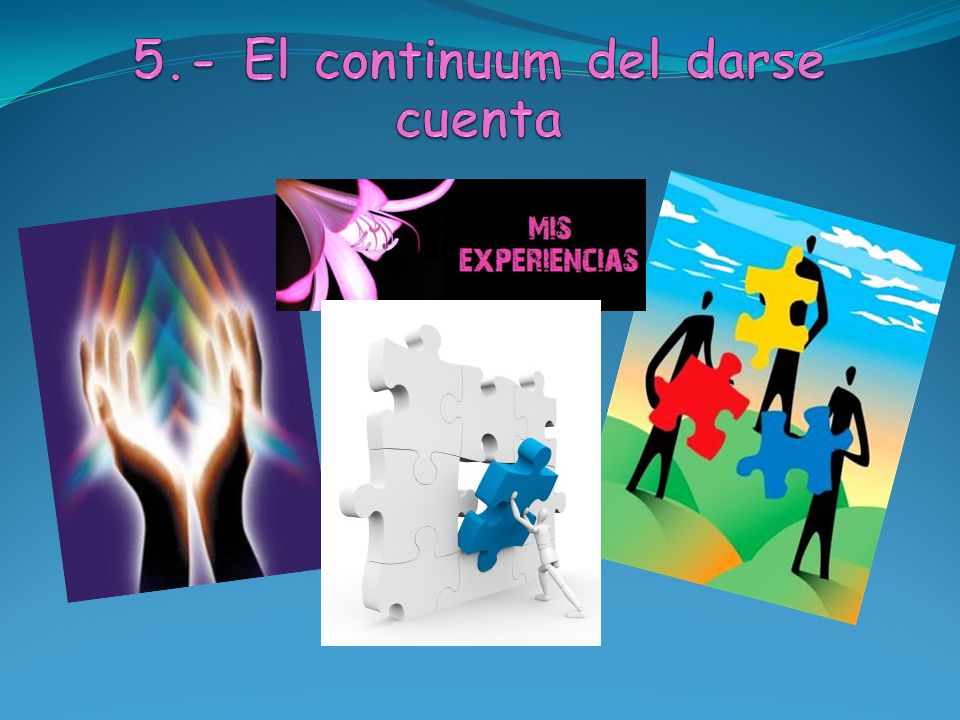 5.- El continuum del darse cuenta