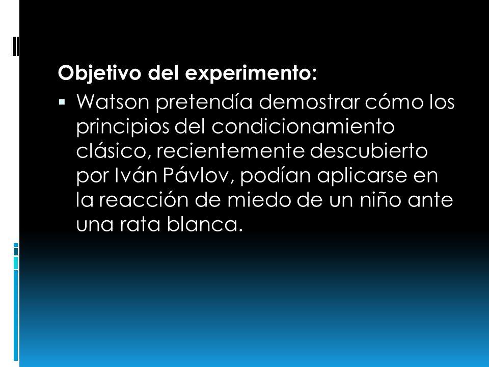 Objetivo del experimento:
