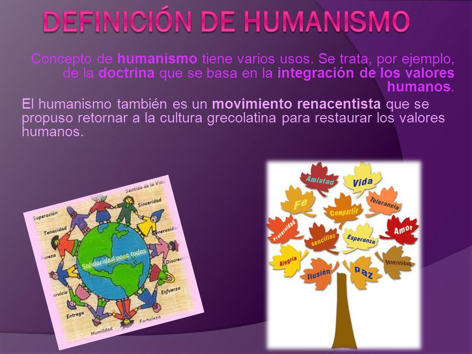 Definición de humanismo
