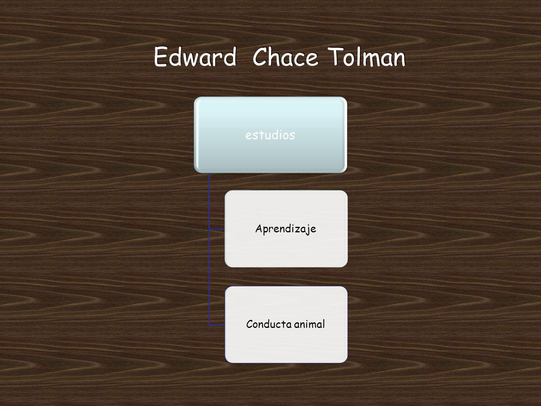Edward Chace Tolman estudios Aprendizaje Conducta animal