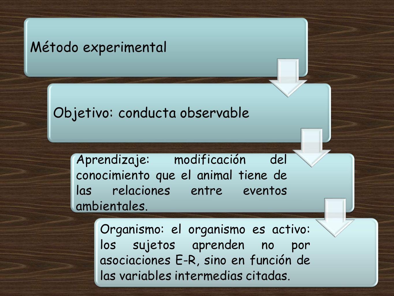 Objetivo: conducta observable