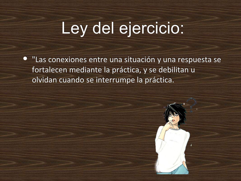 Ley del ejercicio:
