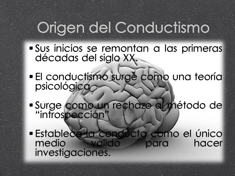 Origen del Conductismo