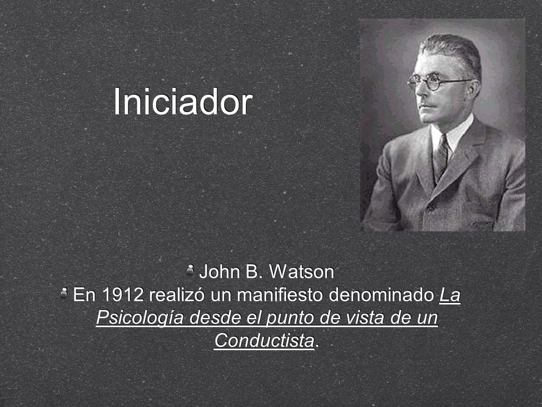 Iniciador John B. Watson