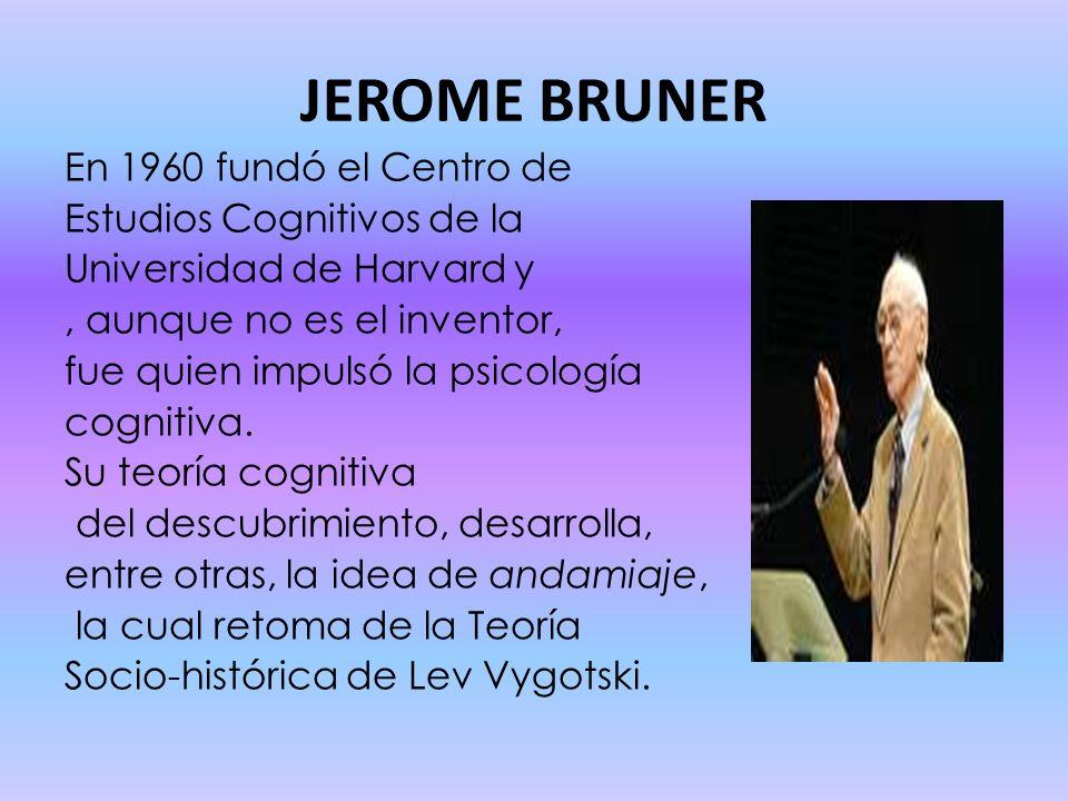 JEROME BRUNER En 1960 fundó el Centro de Estudios Cognitivos de la