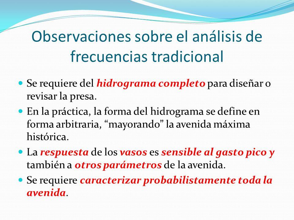 Observaciones sobre el análisis de frecuencias tradicional