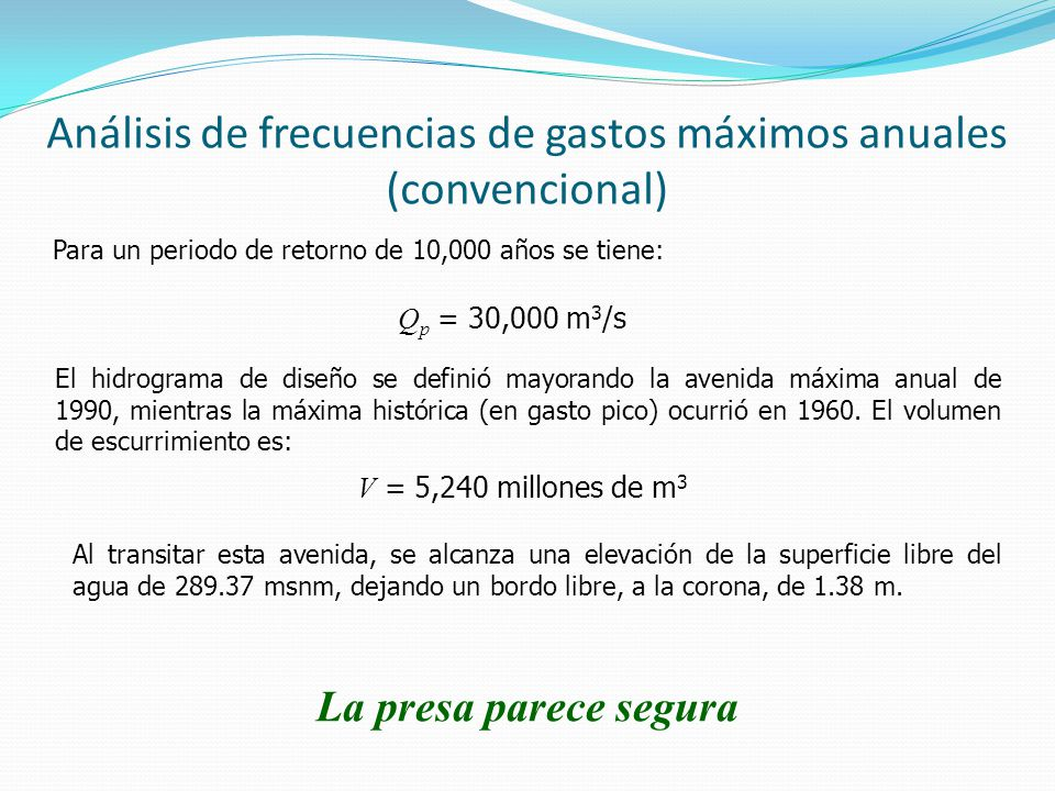 Análisis de frecuencias de gastos máximos anuales (convencional)