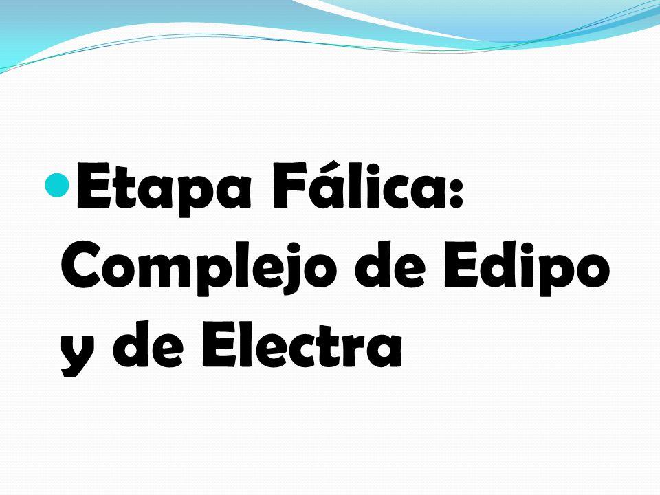 Etapa Fálica: Complejo de Edipo y de Electra