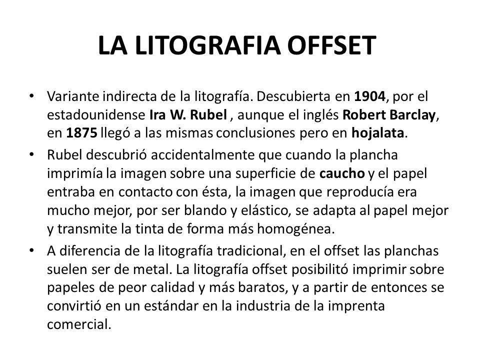 LA LITOGRAFIA OFFSET