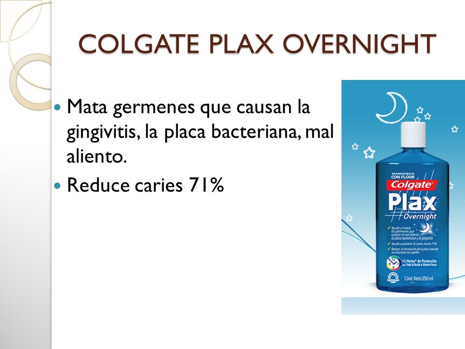 COLGATE PLAX OVERNIGHT