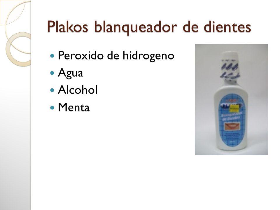 Plakos blanqueador de dientes