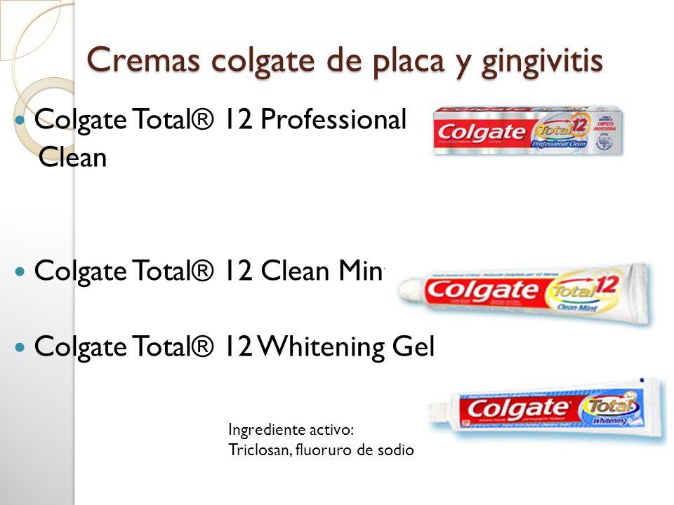 Cremas colgate de placa y gingivitis
