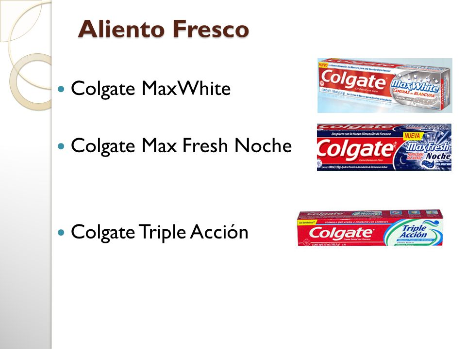 Aliento Fresco Colgate MaxWhite Colgate Max Fresh Noche