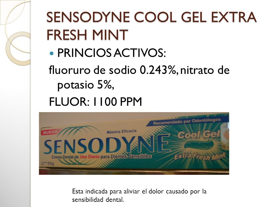 SENSODYNE COOL GEL EXTRA FRESH MINT
