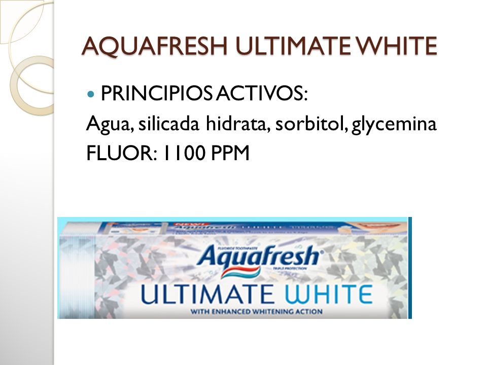 AQUAFRESH ULTIMATE WHITE