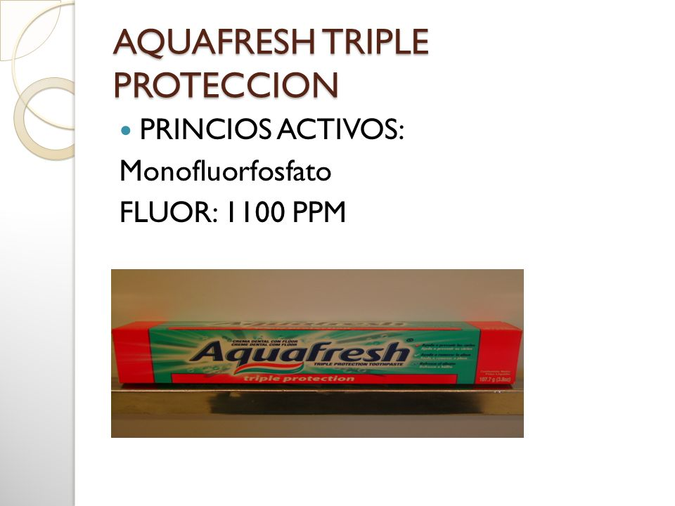 AQUAFRESH TRIPLE PROTECCION