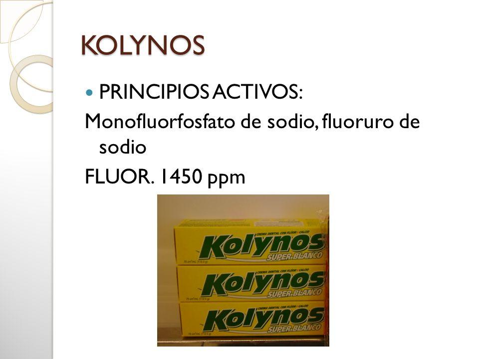 KOLYNOS PRINCIPIOS ACTIVOS: