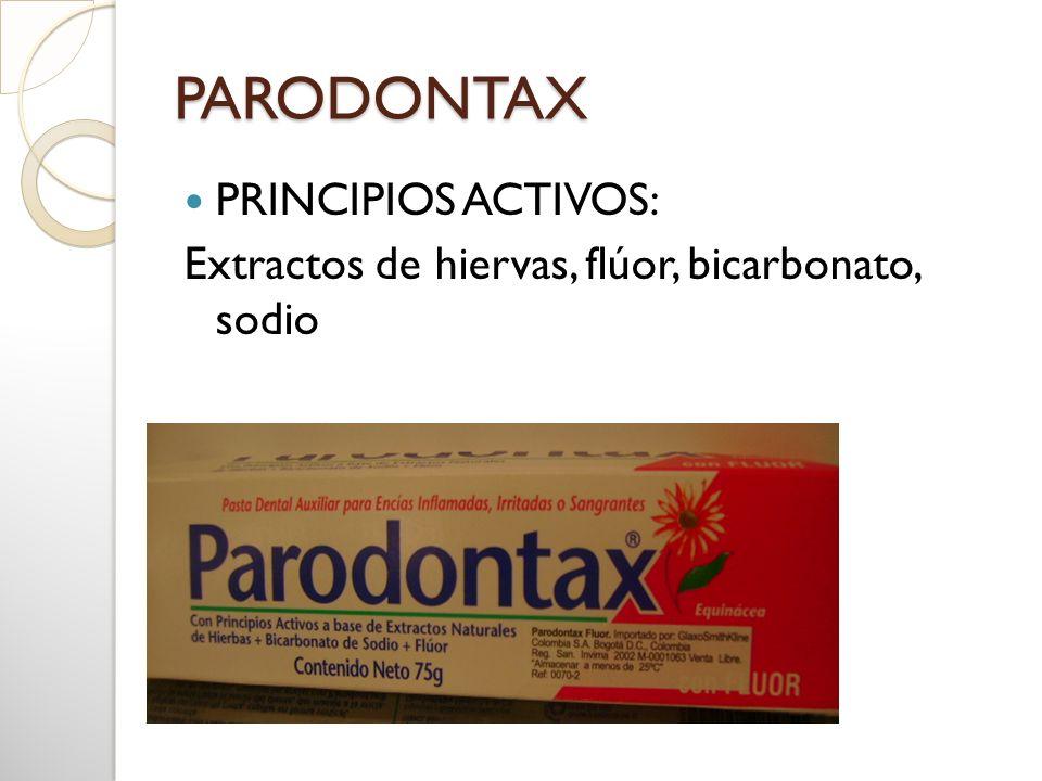 PARODONTAX PRINCIPIOS ACTIVOS:
