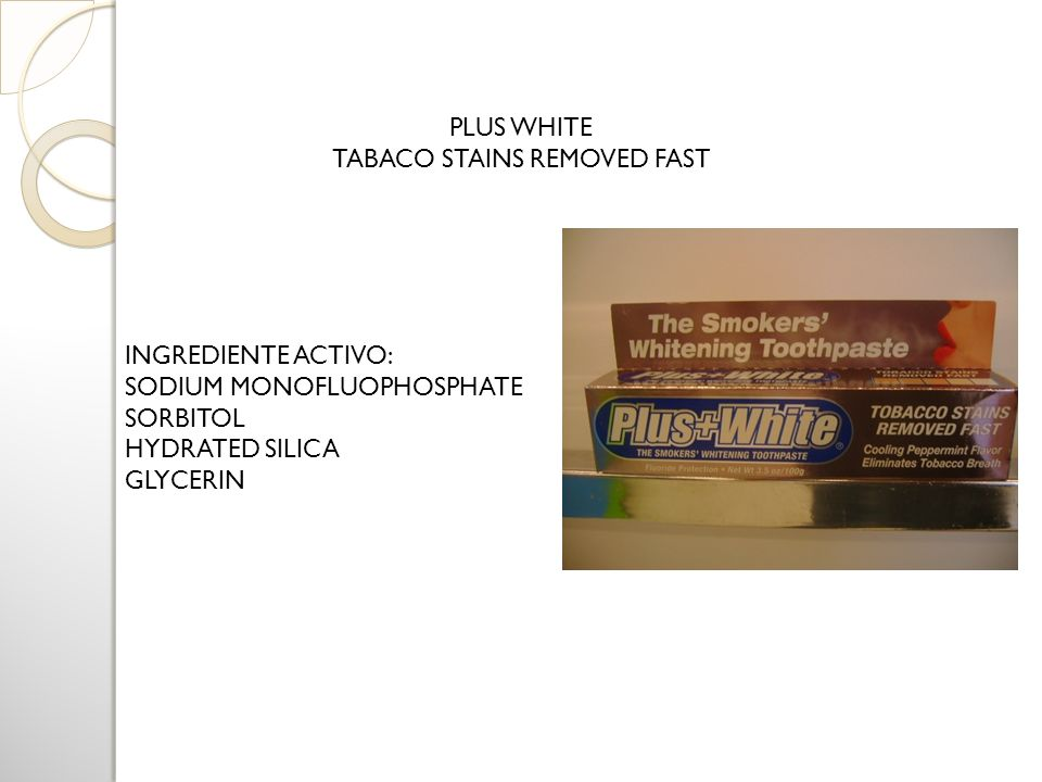 TABACO STAINS REMOVED FAST