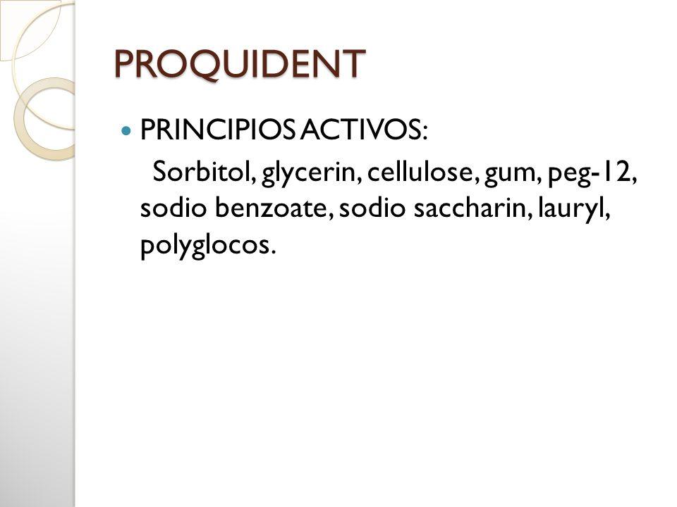 PROQUIDENT PRINCIPIOS ACTIVOS: