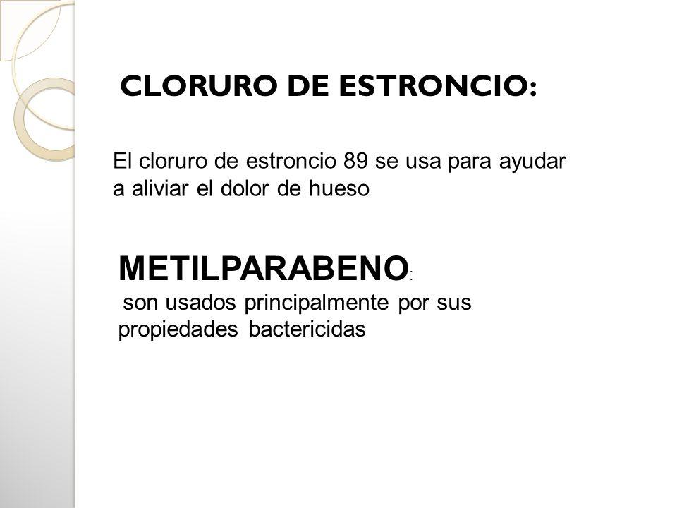 METILPARABENO: CLORURO DE ESTRONCIO: