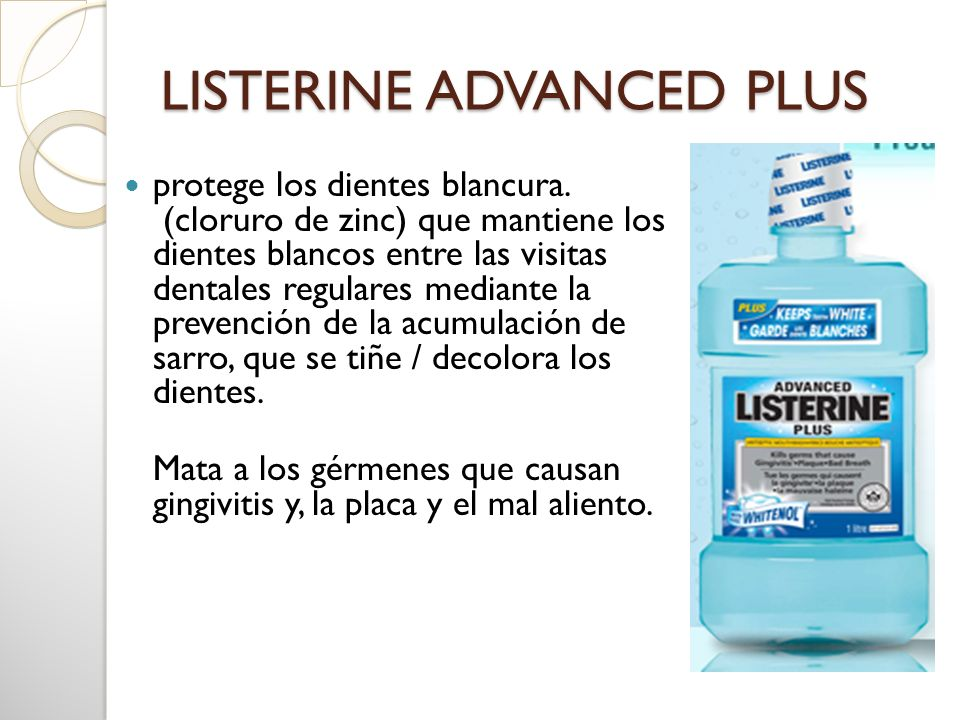 LISTERINE ADVANCED PLUS