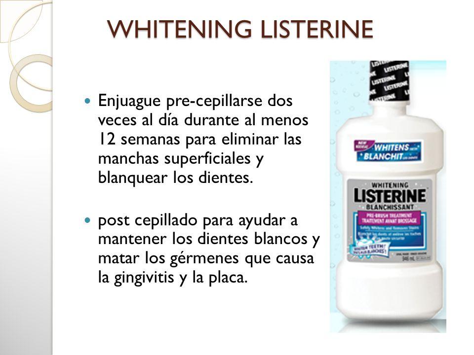 WHITENING LISTERINE