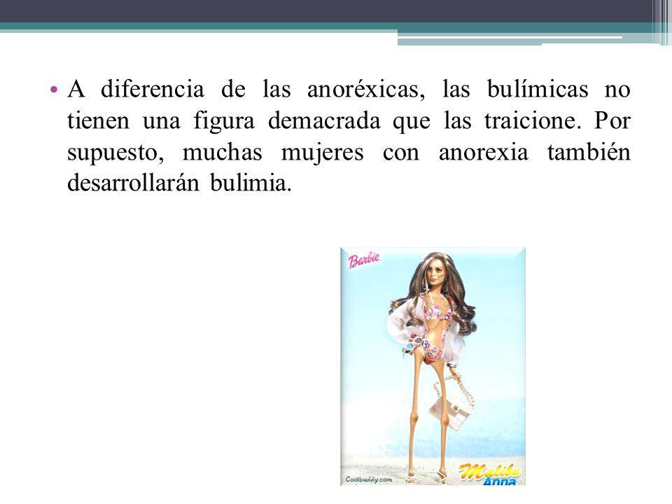 A diferencia de las anoréxicas, las bulímicas no tienen una figura demacrada que las traicione.