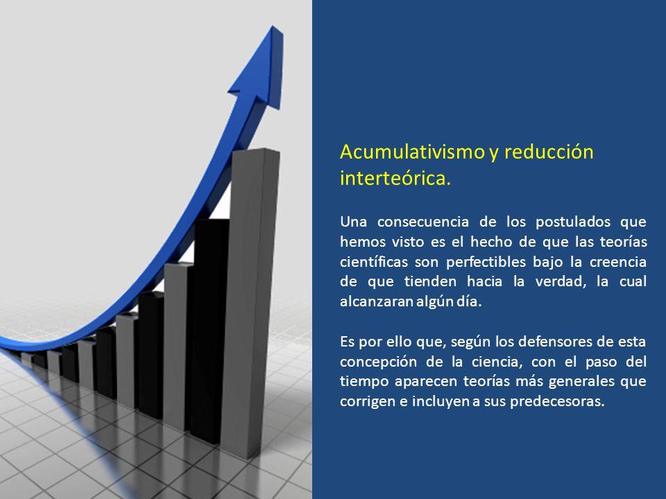 Acumulativismo y reducción interteórica.