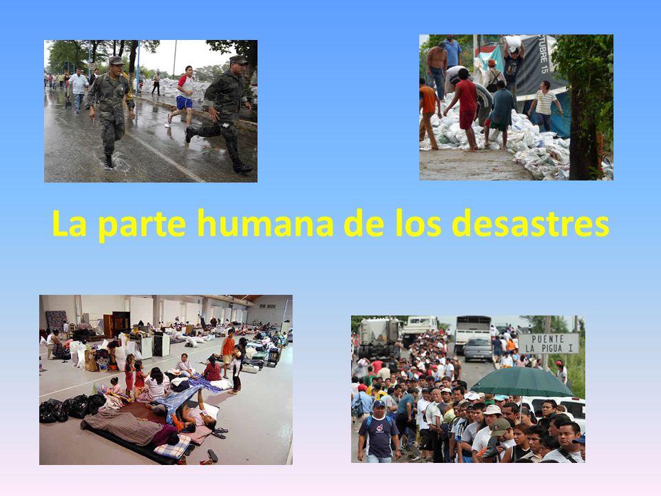 La parte humana de los desastres