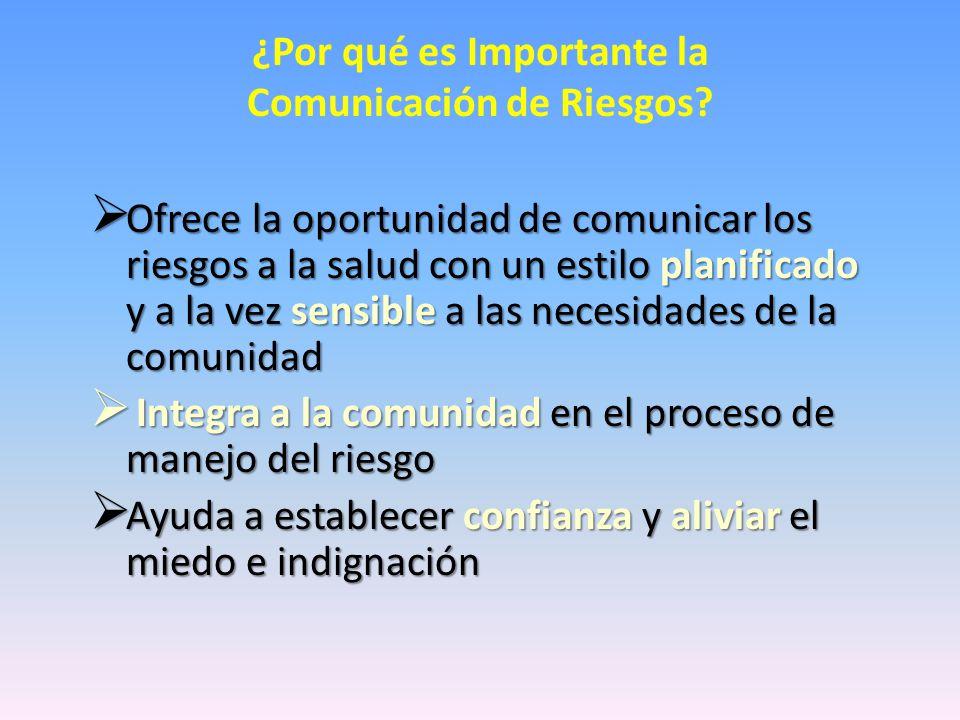 ¿Por qué es Importante la Comunicación de Riesgos