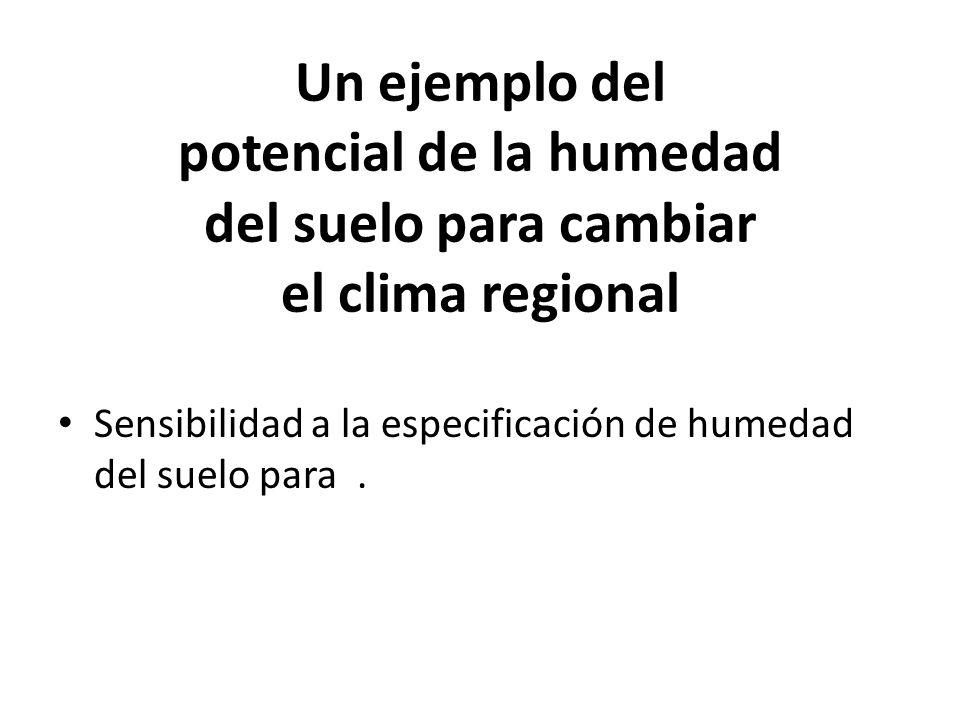 Un ejemplo del potencial de la humedad del suelo para cambiar el clima regional