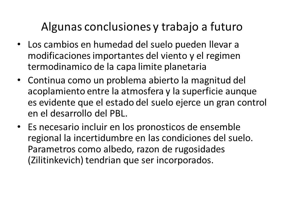 Algunas conclusiones y trabajo a futuro