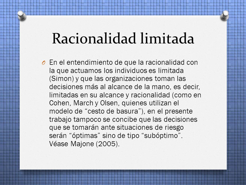 Racionalidad limitada