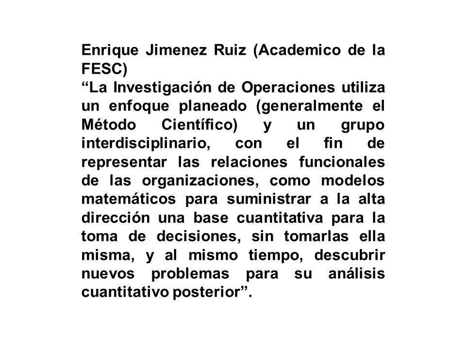 Enrique Jimenez Ruiz (Academico de la FESC)